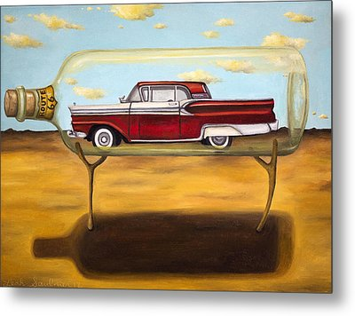 Galaxie In A Bottle Metal Print by Leah Saulnier The Painting Maniac