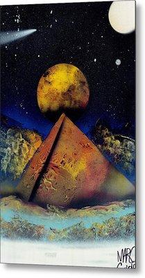 Galaxy Desert Pyramids Metal Print by Marc Chambers