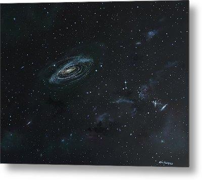 Galaxy Metal Print by Ken Ahlering