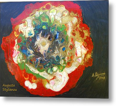 Galaxy With Solar Systems Metal Print by Augusta Stylianou