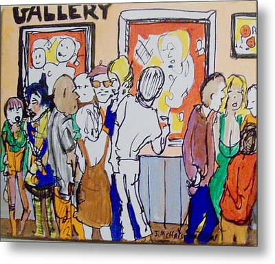 Gallery Opening  Metal Print by James Christiansen
