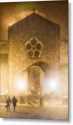 Galway Cathedral In A Winter Fog Metal Print by Mark E Tisdale