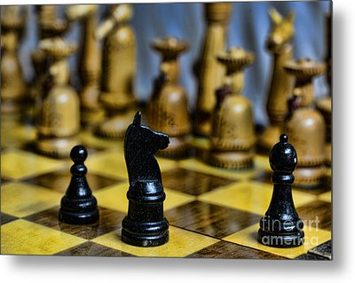 Game Of Chess Metal Print by Paul Ward