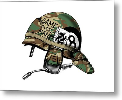 Game Over Man Metal Print by Vincent Carrozza
