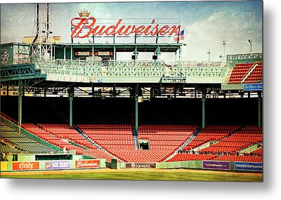 Gameday Ready At Fenway Metal Print by Stephen Stookey