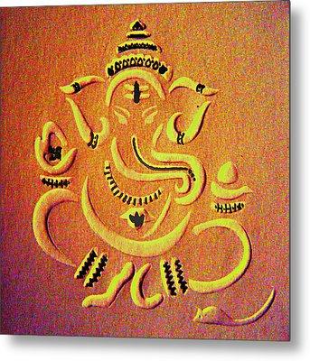 Ganesha Pietyz Metal Print by Piety Dsilva