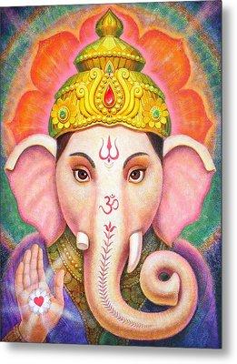 Ganesha's Blessing Metal Print by Sue Halstenberg