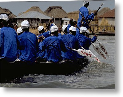Metal Print featuring the photograph Ganvie - Lake Nokoue by Travel Pics