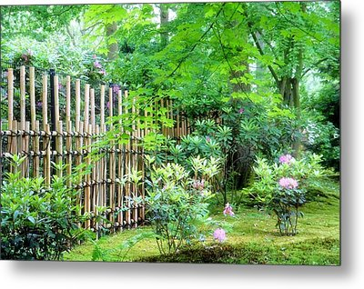 Garden Landscape Metal Print by Ninie AG