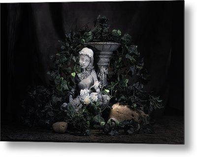 Garden Maiden Metal Print by Tom Mc Nemar