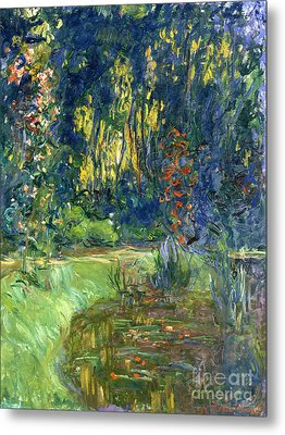 Garden Of Giverny Metal Print by Claude Monet