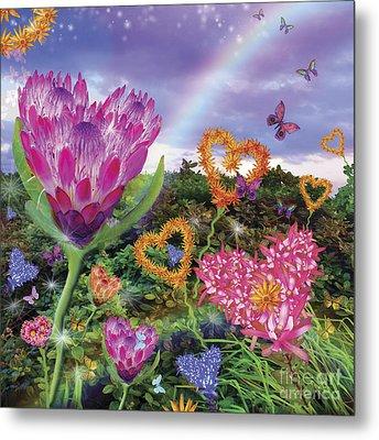 Garden Of Love 2 Metal Print by Alixandra Mullins