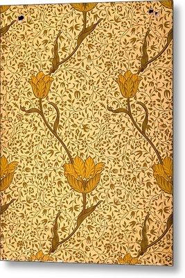 Garden Tulip Wallpaper Design Metal Print by William Morris