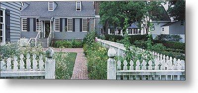 Gardens Williamsburg Va Metal Print by Panoramic Images