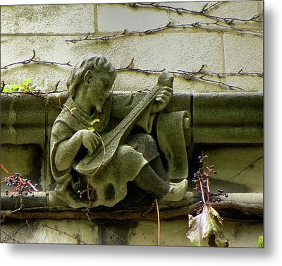 Gargoyle With Grape Vines University Of Chicago October 2009 Metal Print by Joseph Duba