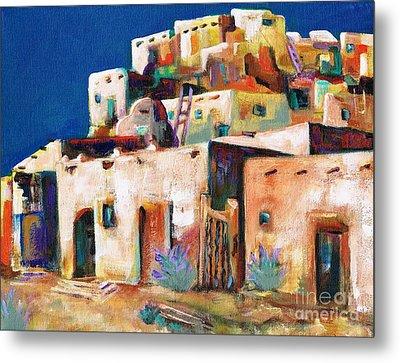 Gateway Into  The  Pueblo Metal Print by Frances Marino