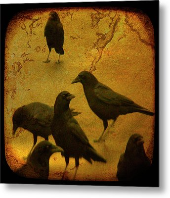 Gathering Metal Print by Gothicolors Donna Snyder