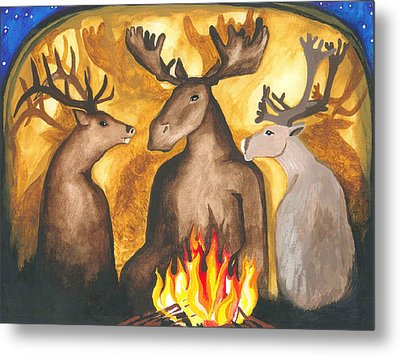 Gathering Of Ancestors Metal Print by Cat Athena Louise