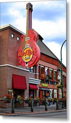 Gatlinburg Hard Rock Cafe Metal Print by Frozen in Time Fine Art Photography