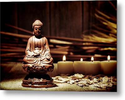 Gautama Buddha Metal Print by Olivier Le Queinec