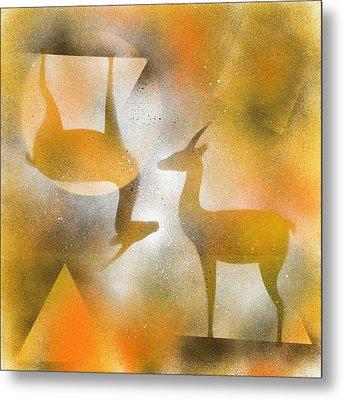 Gazelles Metal Print by Hakon Soreide