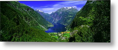 Geirangerfjord, Flydalsjuvet, More Og Metal Print by Panoramic Images