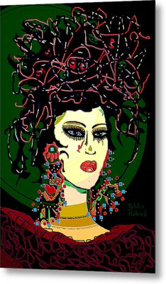 Geisha 6 Metal Print by Natalie Holland