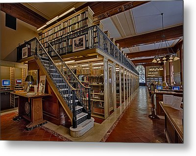 Genealogy Room Ny Public Library Metal Print by Susan Candelario