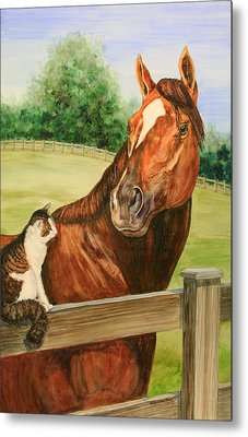 General Charlie And Whirlaway The Cat Portrait Metal Print by Kristine Plum