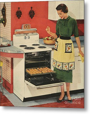 General Electric 1950s Usa  Ovens Metal Print by The Advertising Archives