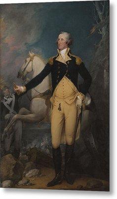 General George Washington At Trenton, 1792 Metal Print by John Trumbull