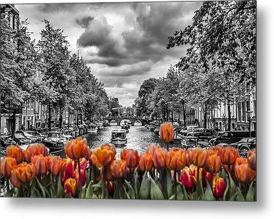 Gentlemen's Canal  Amsterdam Metal Print by Melanie Viola