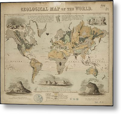 Geological Map Of The World Metal Print by British Library