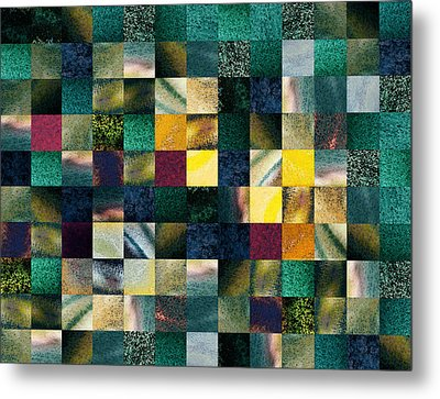 Geometric Abstract Design Forest Lights Metal Print by Irina Sztukowski