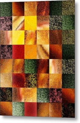 Geometric Design Squares Pattern Abstract I  Metal Print by Irina Sztukowski