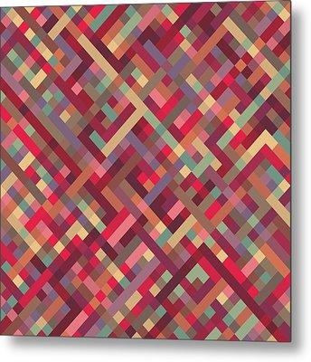 Geometric Lines Metal Print by Mike Taylor