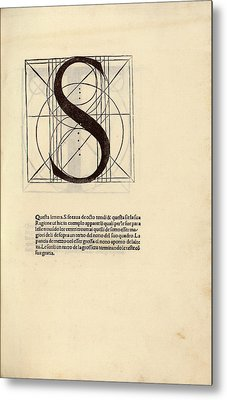 Geometrical Letter 's' Metal Print by Library Of Congress