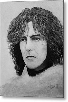 George Harrison Metal Print by Patricia Brewer-Cummings
