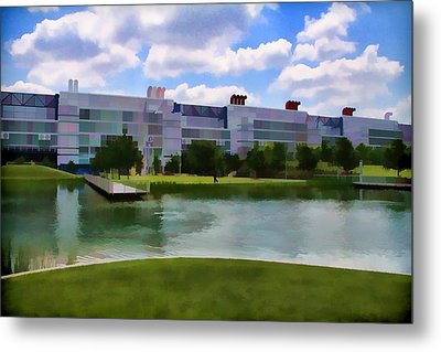 George R Brown Convention Center Metal Print by Audreen Gieger-Hawkins