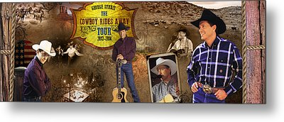 George Strait Cowboy Rides Away Metal Print by Retro Images