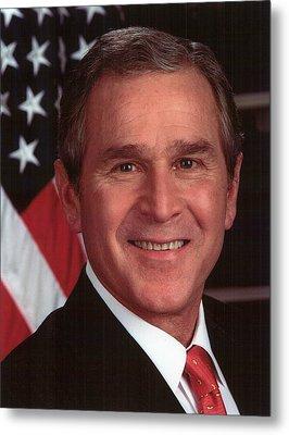 George W Bush Metal Print by Official Gov Files