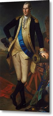 George Washington Metal Print by Charles Wilson Peale