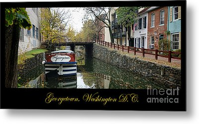 Georgetown Canal Poster Metal Print by Olivier Le Queinec