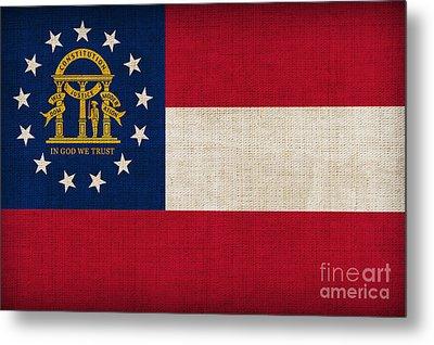 Georgia State Flag Metal Print by Pixel Chimp