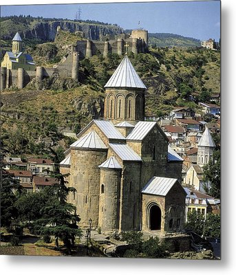 Georgia. Tbilisi. Meteki Church Metal Print by Everett