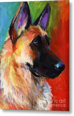 German Shepherd Dog Portrait Metal Print by Svetlana Novikova