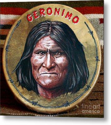 Geronimo Drum Metal Print by Stu Braks