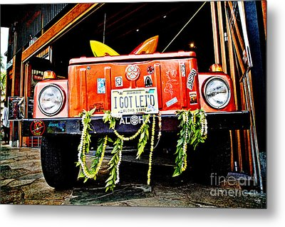 Get Lei'd Metal Print by Scott Pellegrin