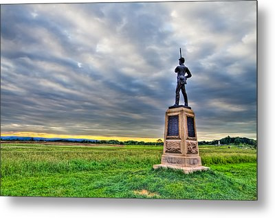 Gettysburg Battlefield Soldier Never Rests Metal Print by Andres Leon