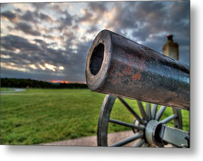 Gettysburg Canon Closeup Metal Print by Andres Leon